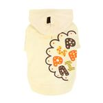 View Image 2 of Hallmark Hooded Dog Shirt by Puppia - Light Yellow