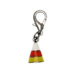 View Image 1 of Halloween Dog Collar Charm - Candy Corn Lobster Claw