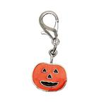 Dog Collar Charm - Pumpkin Lobster Claw