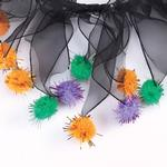 View Image 2 of Halloween Pom Pom Scrunchy by Aria