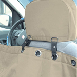 View Image 3 of Hammock Style Dog Car Seat Cover - Khaki