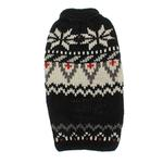View Image 1 of Handmade Aspen Fair Isle Wool Dog Sweater - Black