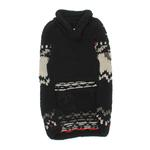 View Image 2 of Handmade Aspen Fair Isle Wool Dog Sweater - Black