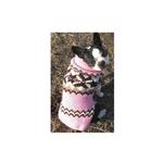 View Image 2 of Handmade Aspen Fair Isle Wool Dog Sweater - Pink