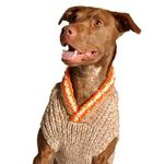 View Image 1 of Handmade Camp Wool Dog Sweater - Tan
