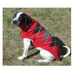 View Image 3 of Handmade Classic Argyle Wool Dog Sweater - Red