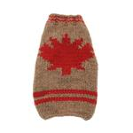 View Image 1 of Handmade Maple Leaf Wool Dog Sweater