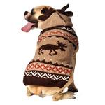 View Image 2 of Handmade Moosey Wool Dog Hoodie
