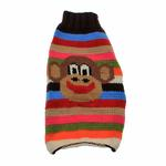 View Image 1 of Handmade Wool Funky Monkey Dog Sweater