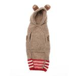 View Image 2 of Handmade Wool Monkey Dog Hoodie with Ears