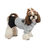 View Image 1 of Hatch Hooded Dog Dress by Puppia - Blue