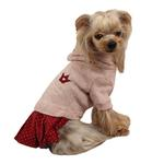 View Image 3 of Hatch Hooded Dog Dress by Puppia - Pink
