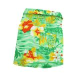 View Image 1 of Hawaiian Print Dog Shirt - Green