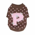 View Image 4 of Heart Cotton Dog Sweartshirt by Pinkaholic - Brown