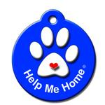 View Image 1 of Help Me Home QR Code Pet ID Tag by BarkCode - Blue