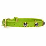 View Image 2 of Hematite Pebbies Dog Collar - Green