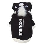 View Image 2 of Here Comes Trouble Skunk Dog Sweatshirt by Dogo - Black