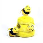 View Image 1 of Hide-a-Bee Plush Dog Puzzle Toy