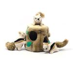 View Image 1 of Hide-A-Squirrel Plush Dog Toy