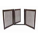 View Image 1 of Highlander Free Standing Walk-Through Dog Gate - Mahogany