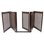 View Image 3 of Highlander Free Standing Walk-Through Dog Gate - Mahogany