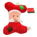 Holiday Bone Dog Toy - Santa