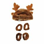 View Image 1 of Holiday Reindeer Dog Costume with Leg Cuffs - Brown