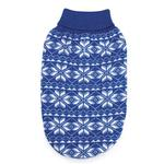 View Image 2 of Holiday Snowflake Dog Sweater - Blue