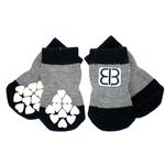 Home Comfort Traction Control Dog Socks - Black & Gray