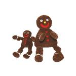 View Image 1 of Hugglehounds Knottie Dog Toy - Gingy the Gingerbread Man