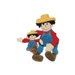 View Image 1 of Hugglehounds Knottie Dog Toy - Vern the Scarecrow