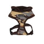 View Image 1 of Hunter Hooded Dog Harness by Puppia - Brown Camo
