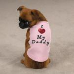 View Image 1 of I Love My Daddy Dog Tank Top - Pink