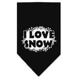 View Image 1 of I Love Snow Dog Bandana - Black