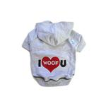 View Image 1 of I Woof U Dog Hoodie - Gray