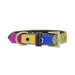 View Image 1 of Ice Cream Dog Collar - Blue Neapolitan Bone