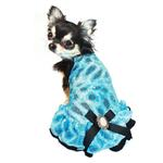 View Image 1 of Ice Princess Dog Dress by Hip Doggie - Blue