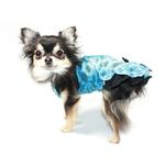 View Image 2 of Ice Princess Dog Dress by Hip Doggie - Blue