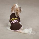 I'm Not Fat...Just Fluffy Dog T-Shirt - Chocolate
