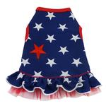View Image 1 of I'm a Star Dog Dress - Blue