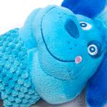 View Image 4 of Invincibles Flappy Friends Dog Toy - Blue Dog