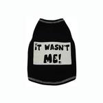 View Image 1 of It Wasn't Me! Dog Tank Top - Black