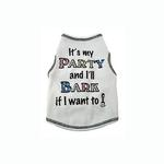 View Image 1 of It's My Party Dog Tank Top - White