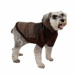 View Image 3 of Java Hoodie Dog Jacket by Puppia - Brown