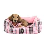 View Image 1 of Junior House Dog Bed by Puppia - Pink