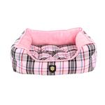 View Image 2 of Junior House Dog Bed by Puppia - Pink