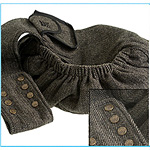 View Image 1 of Just Hangin' Messenger Style Sling Pet Carrier - Black & Cream Tweed