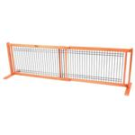 View Image 3 of Kensington Free Standing Wood/Wire Slide Dog Gate - Cherry