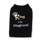 View Image 2 of King of the Playground Dog T-Shirt - Black