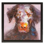 View Image 1 of Chocolate Labrador Oil Painting